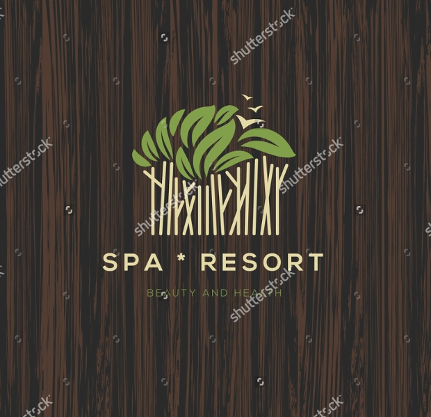 Spa Resort Business Logo