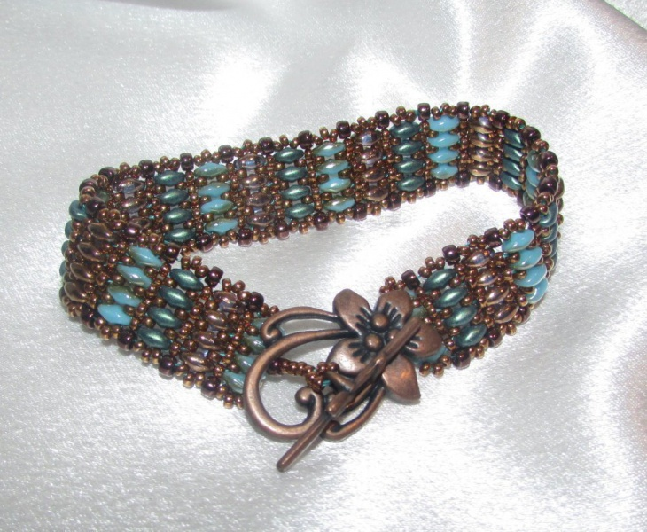 glass and copper jewelry