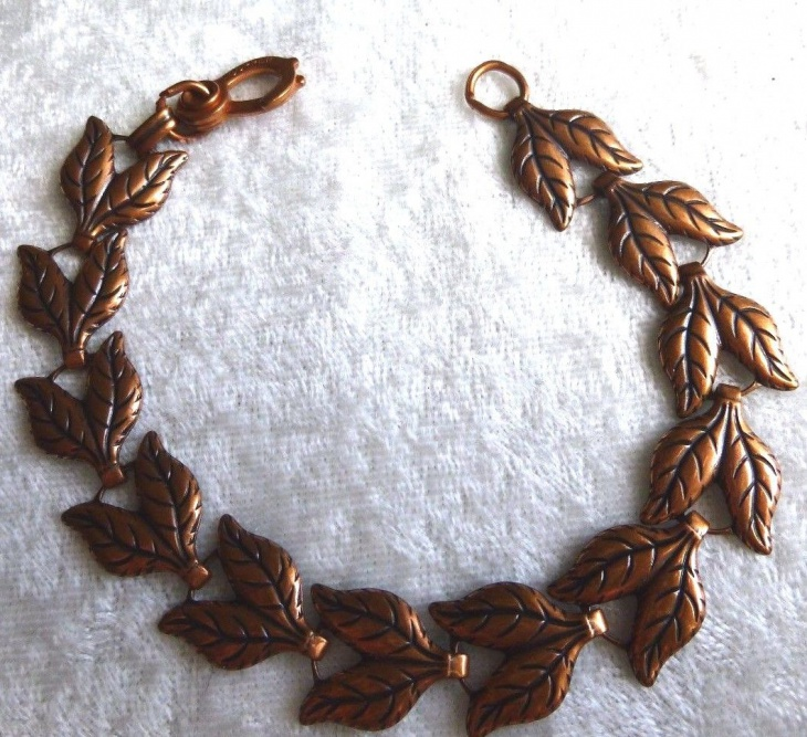 copper leaf jewelry