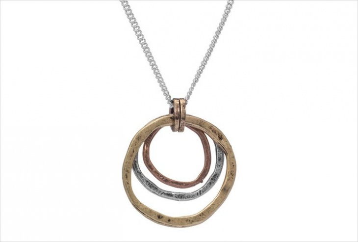 Unique Copper Pendant Necklace