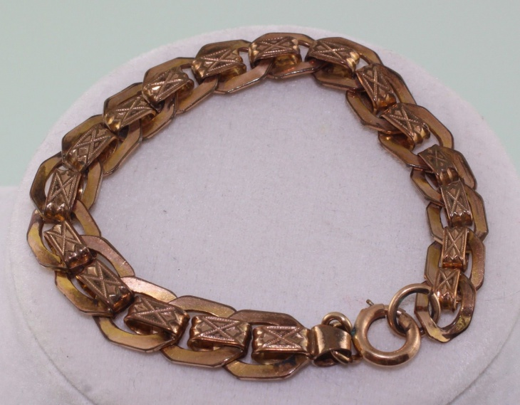 retro copper link bracelet