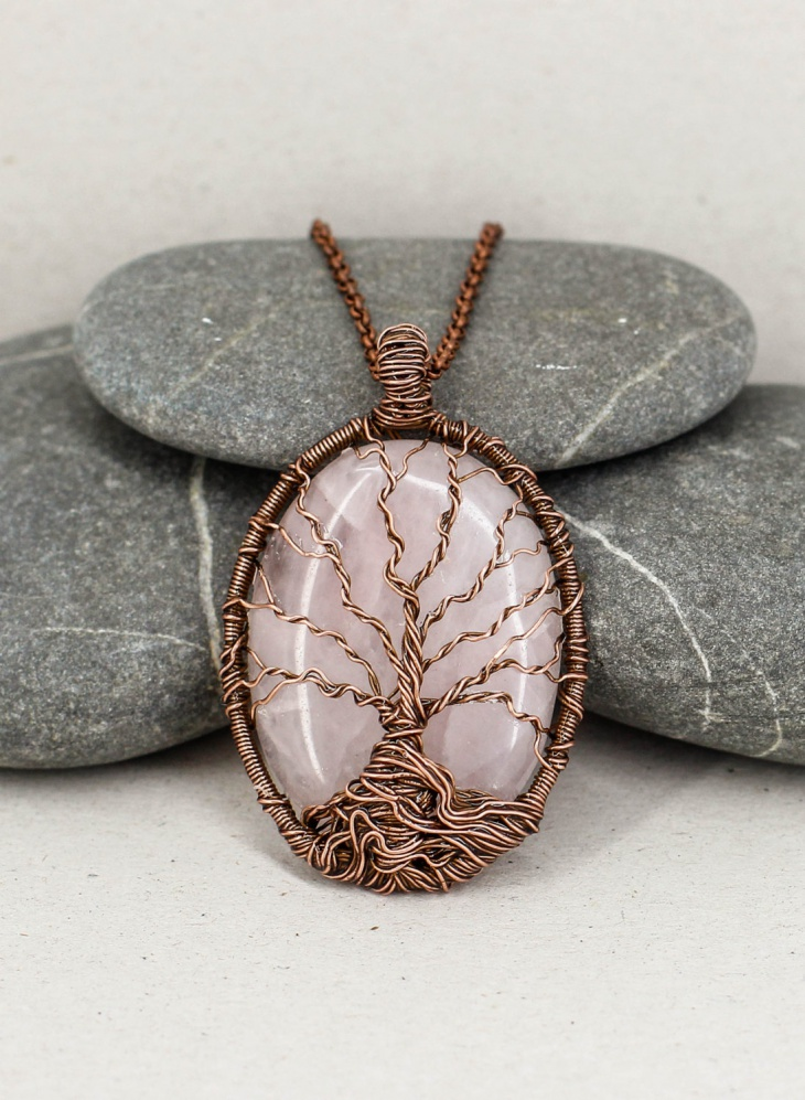 pretty copper pendant necklace