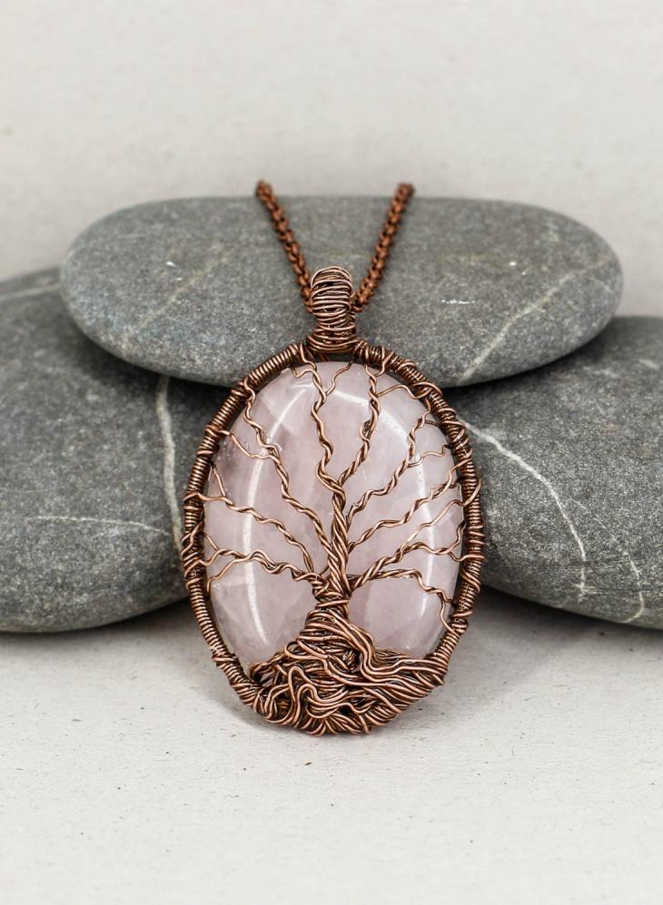 Pretty Copper Pendant Necklace