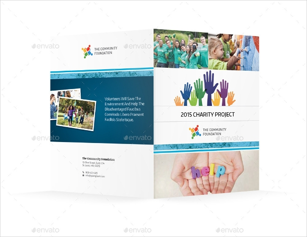 Community Service Bifold Halffold Brochure