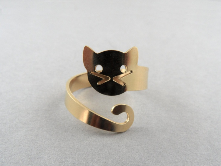 wrap around cat ring