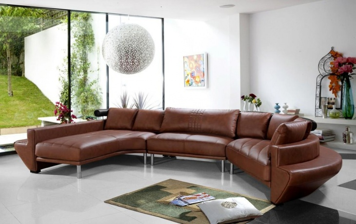 18  curved sectional sofa designs  ideas