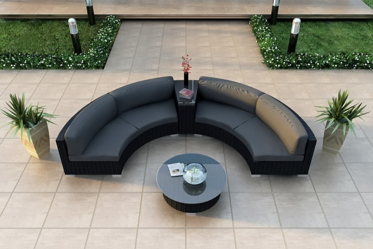 exterior curved sectional sofa