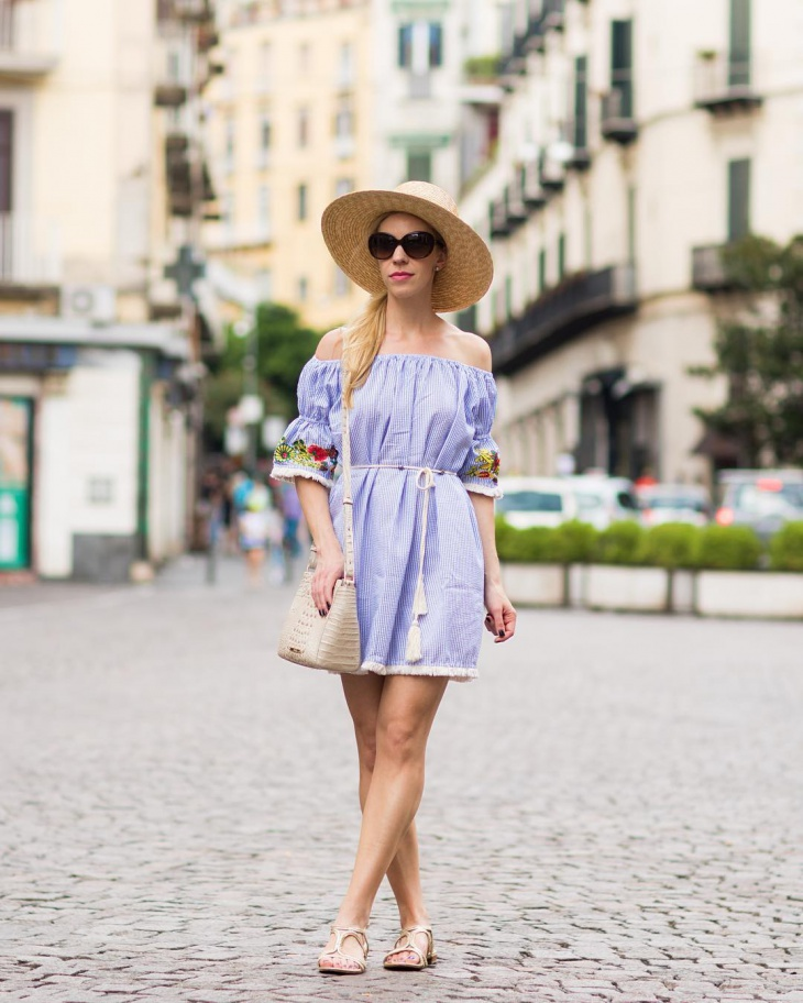 Summer Embroidered Shift Dress