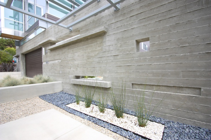 Amazing Exterior Concrete Wall Design