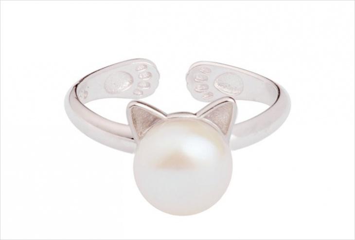 cute cat ring design