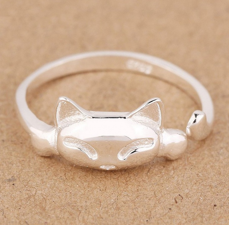 simple cat face ring idea