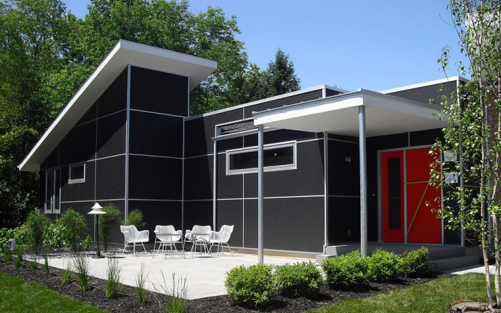 exterior black wall design