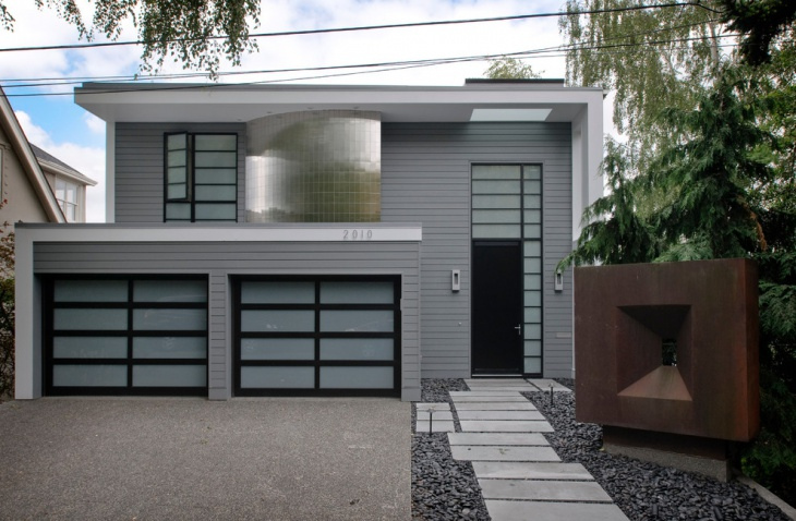 exterior gray wall design