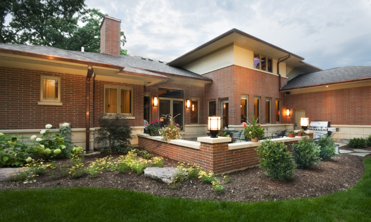 exterior modern brick wall design
