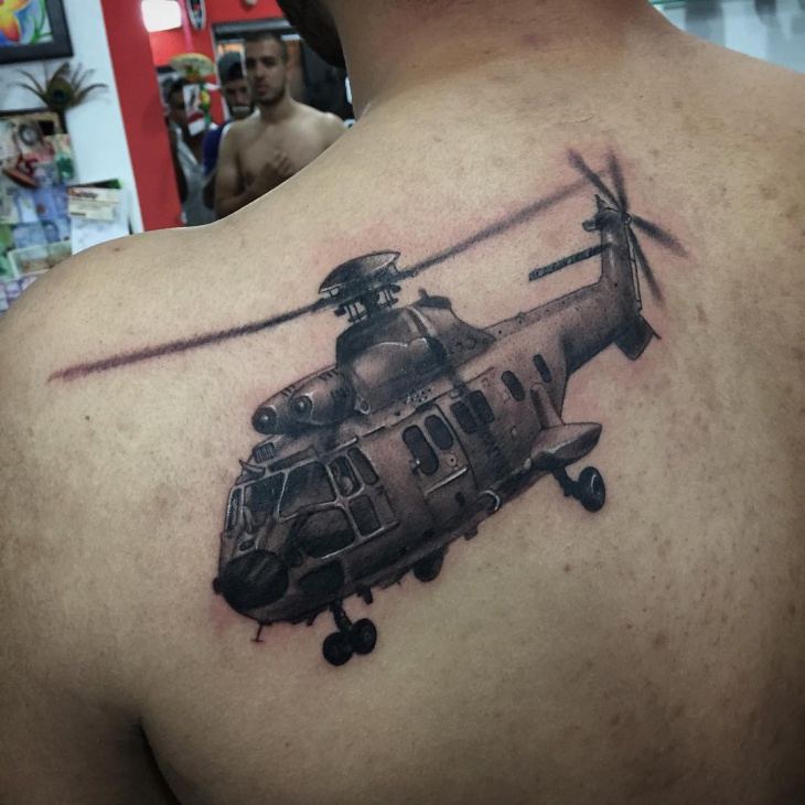 blackhawk helicopter tattoos
