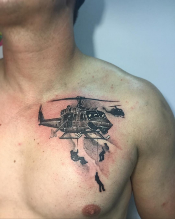 army helicopter tattoo