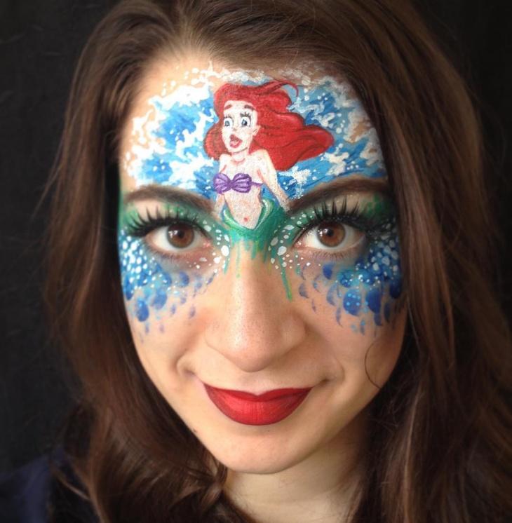 mermaid eye makeup design