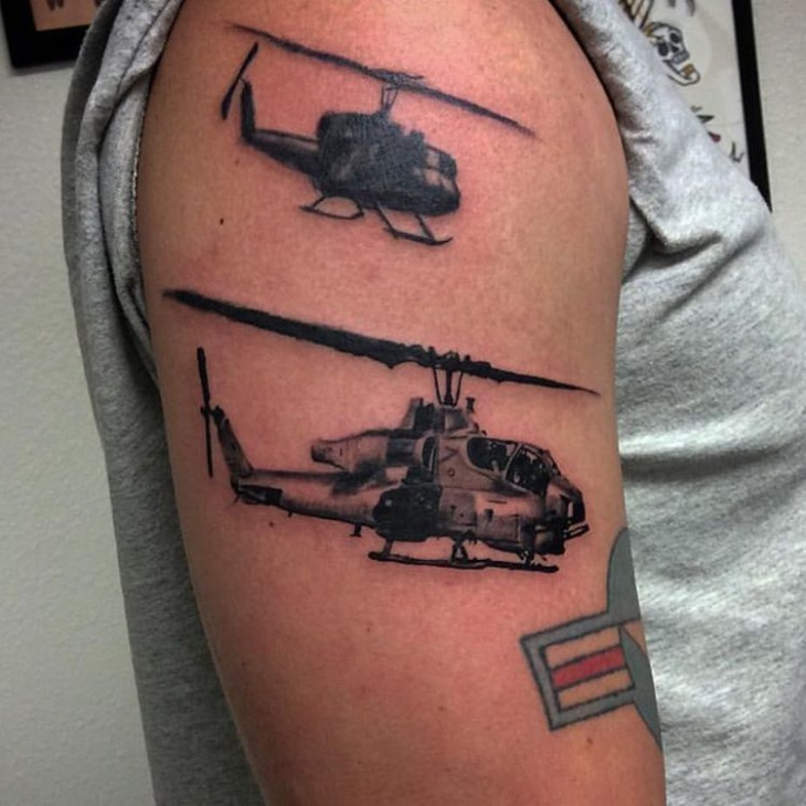 small helicopter tattoos