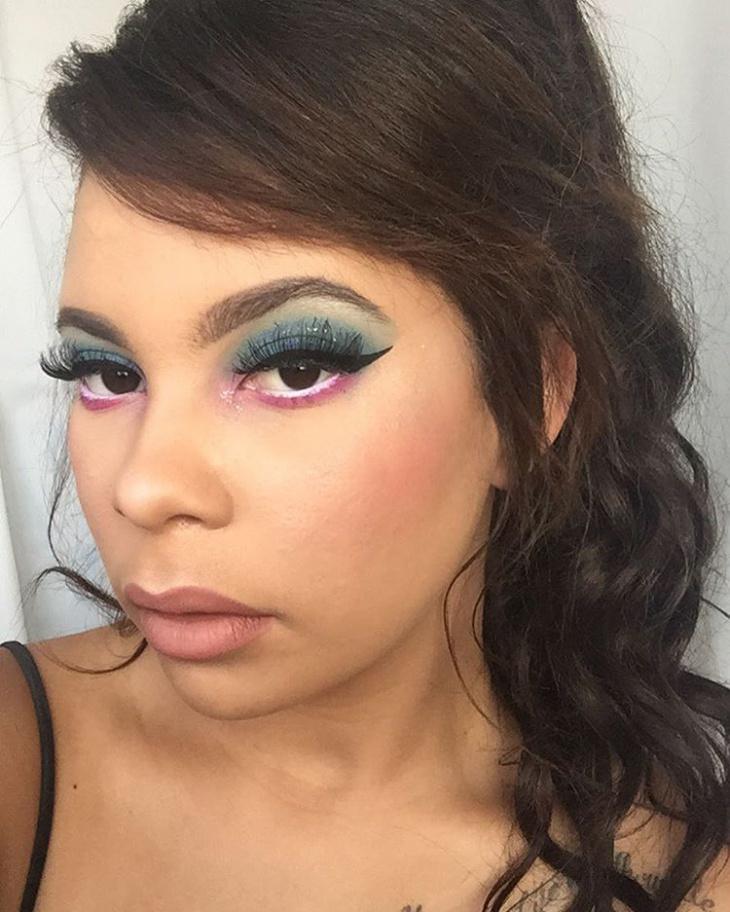 glitter disney eye makeup