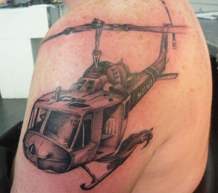 huey helicopter tattoo
