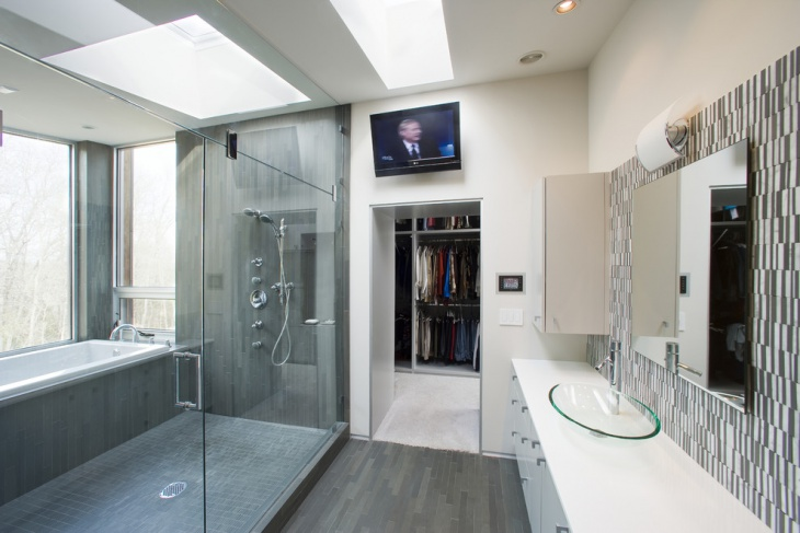 shower glass wall panel