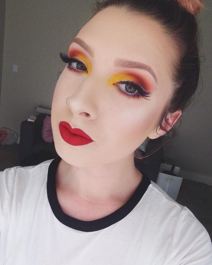 colorful disney eye makeup