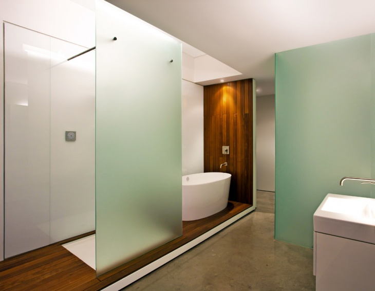 Bathroom Glass Wall Panel