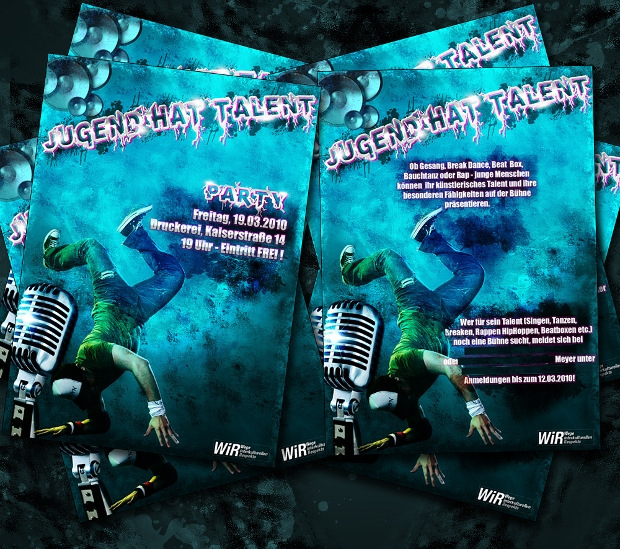 Jugend hat Talent Show Flyer Design
