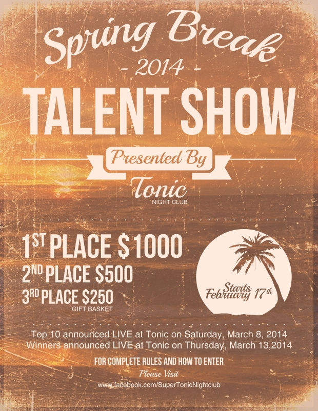Spring Break Talent Show Flyer