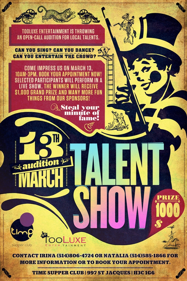 elegant talent show flyer