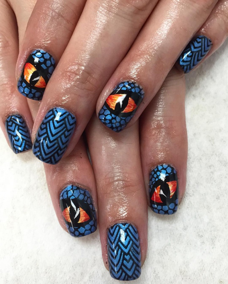 21+ Eye Nail Art Designs, Ideas | Design Trends - Premium ...