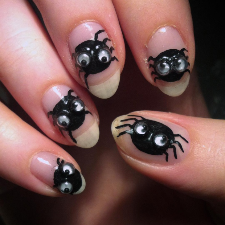 Googly Eyes Nail Design