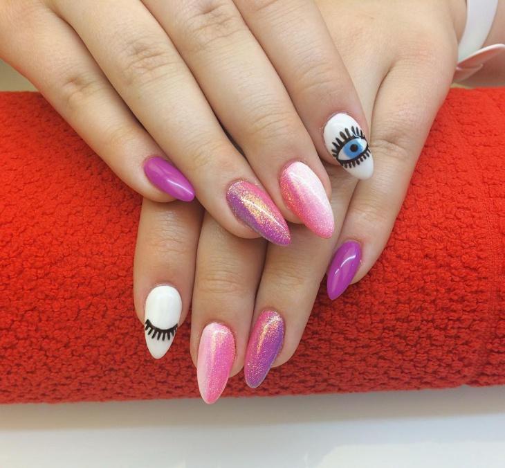 pretty eye nail design idea