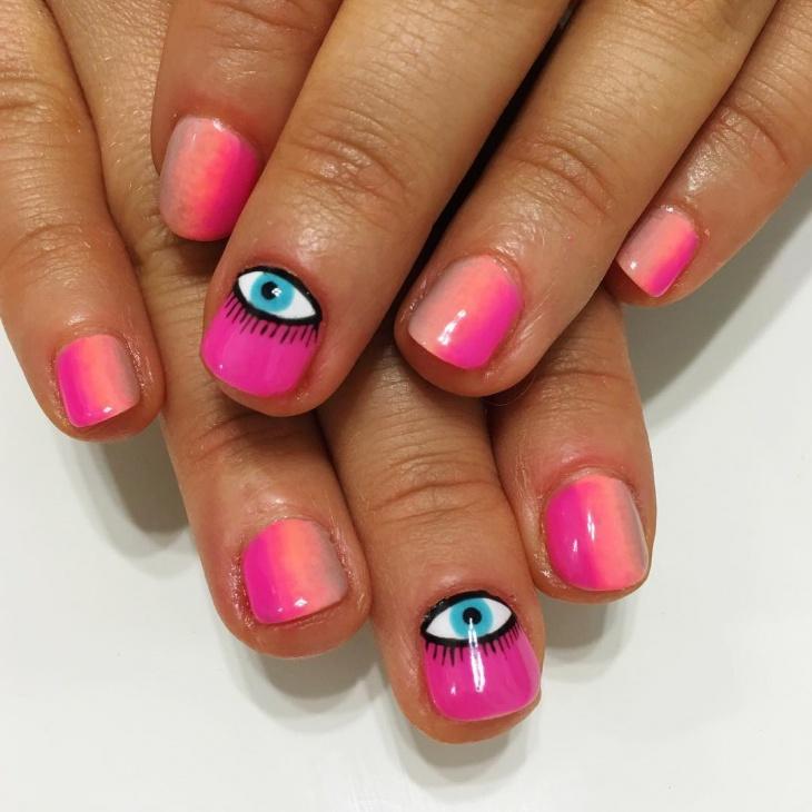 cool eye nail art