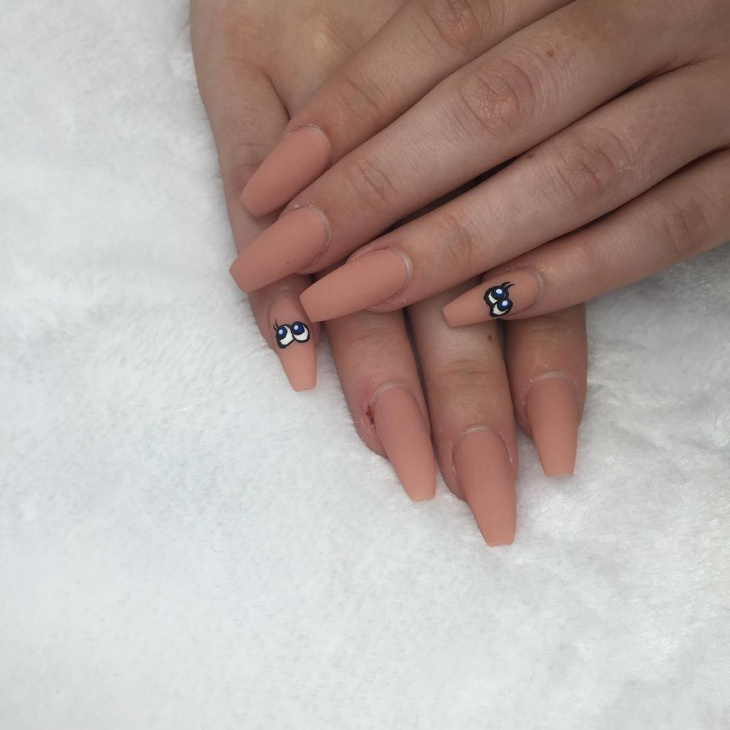 simple eye nail art