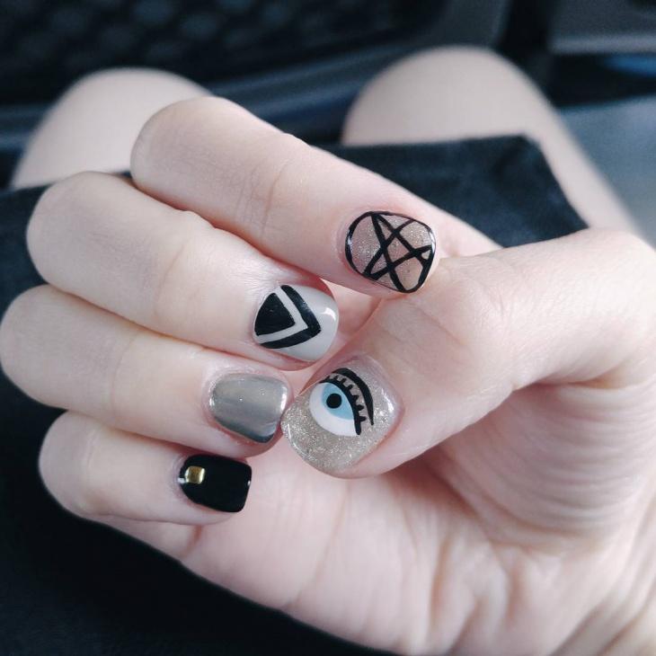 Eye Nail Art for Short Nails