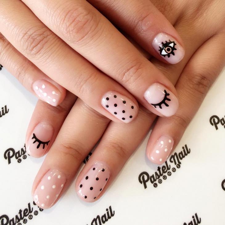 diy eye nail art idea