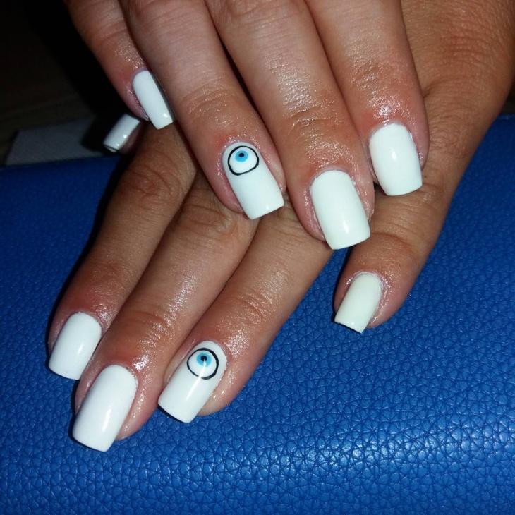 Easy Eye Nail Art Design