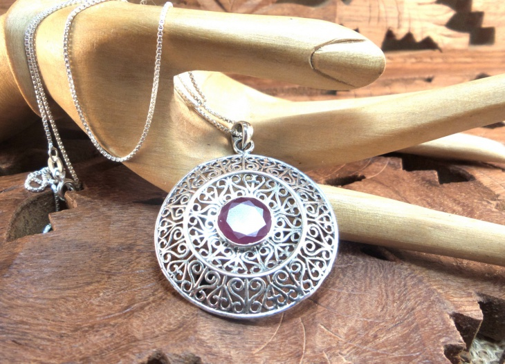 Sterling Silver Medallion Pendant