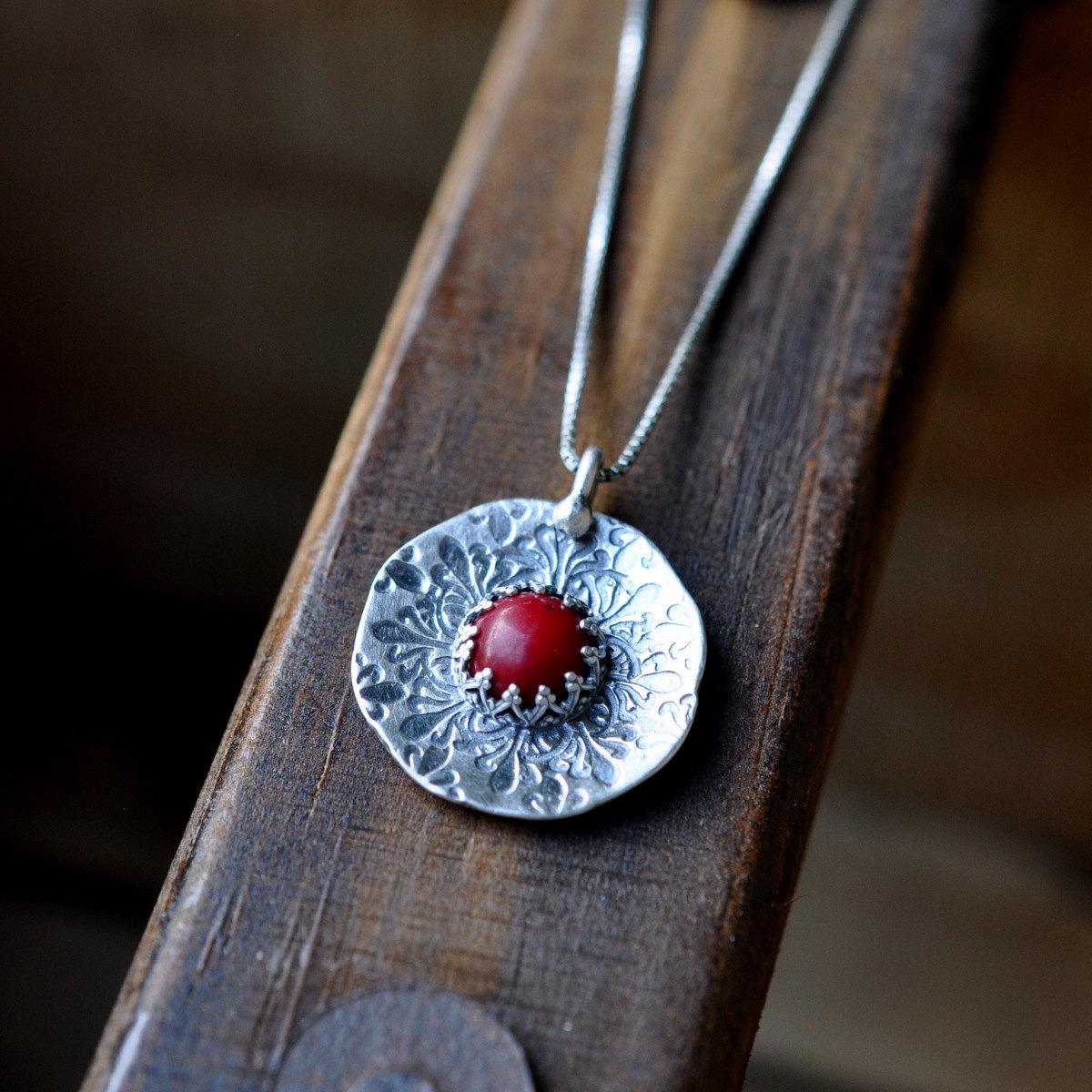 medallion charm necklace