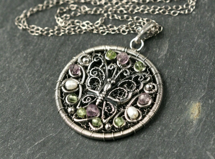 butterfly medallion pendant1