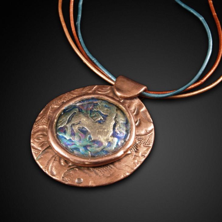 rose gold medallion pendant