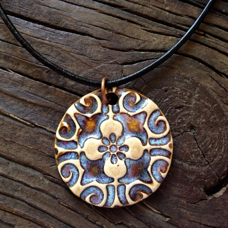 traditional medallion pendant