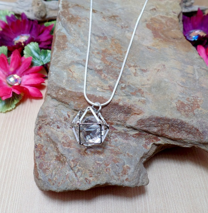 Hollow Cube Necklace