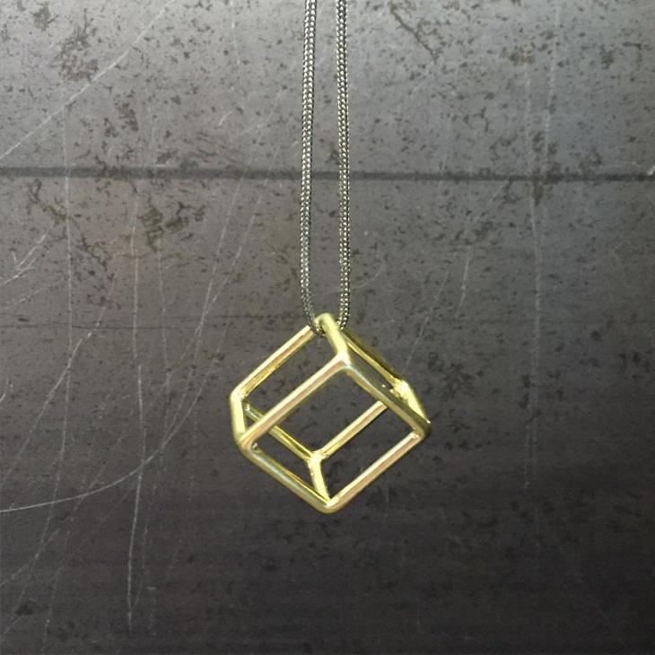 geometric cube neckalce idea