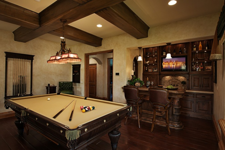 Pool Room Furniture Ideas image of billiard room decorating ideas Small Game Room Idea