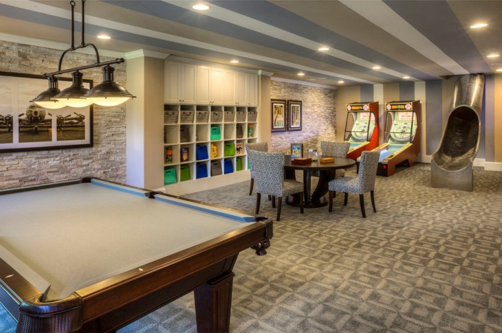 20 basement game room designs ideas design trends for Small pool table room ideas