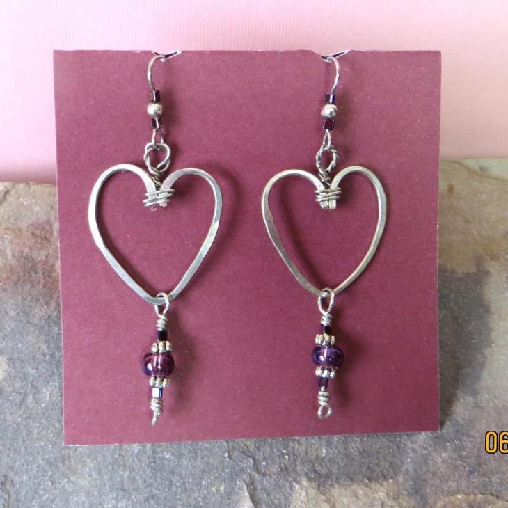 Heart Hoop Earrings Idea