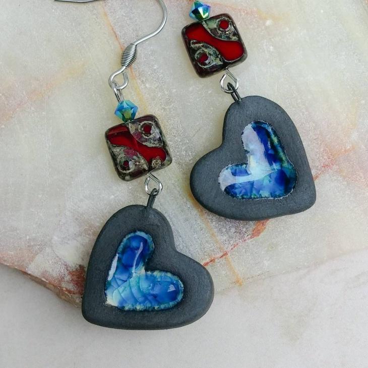 Love Heart Earrings Look