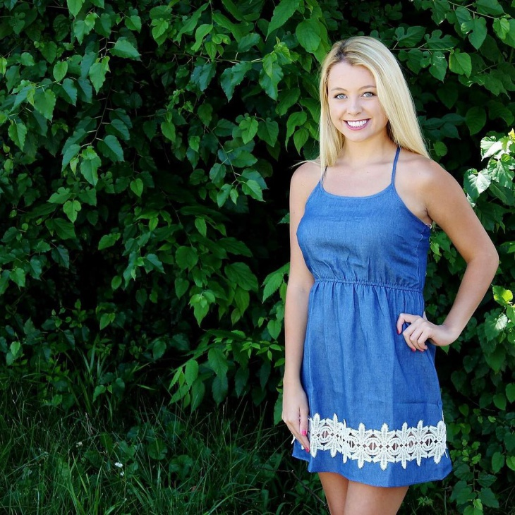 sleeveless chambray dress for summer